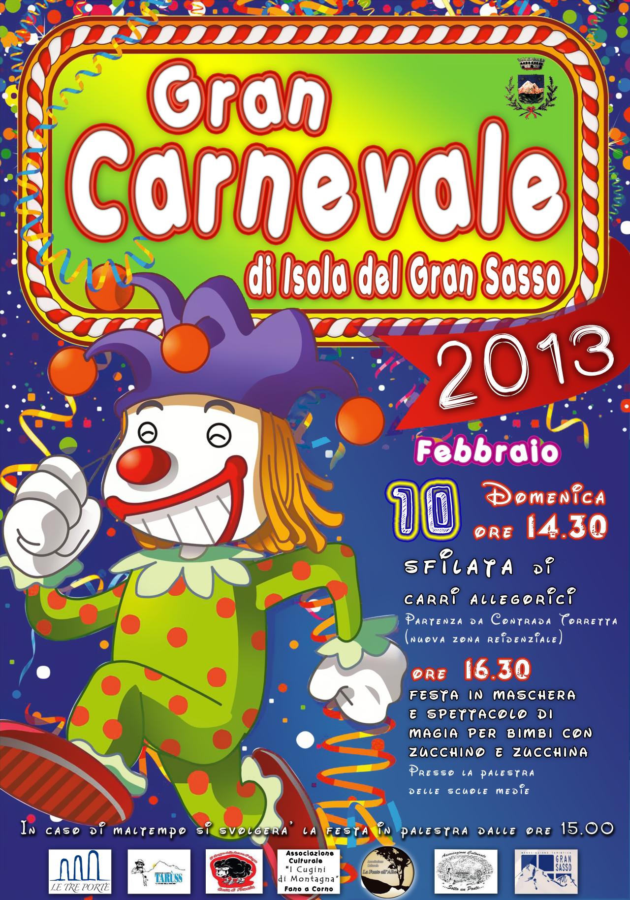 Carnevale 2013 a Isola del Gran Sasso