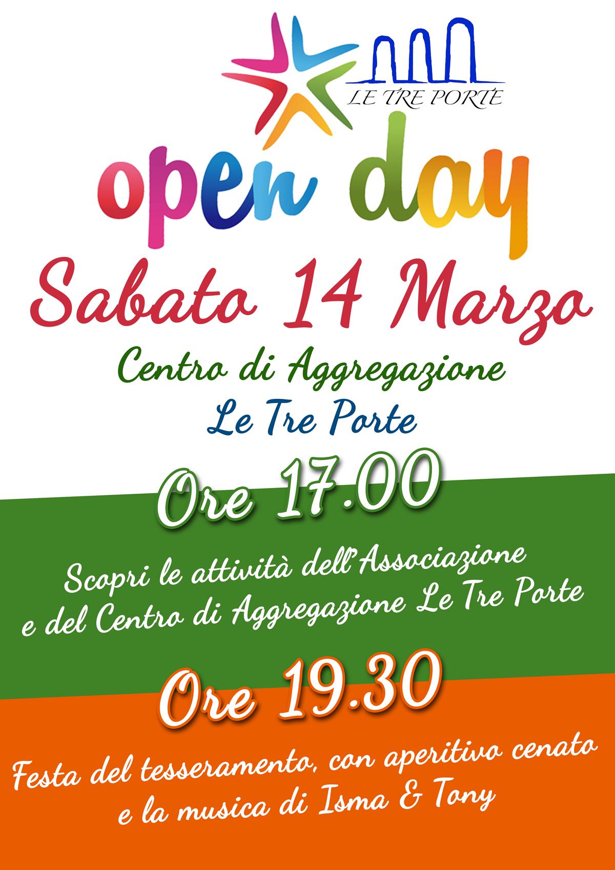 Openday – Festa del tesseramento