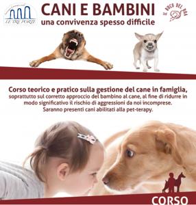 Corso sul rapporto tra cani e bambini