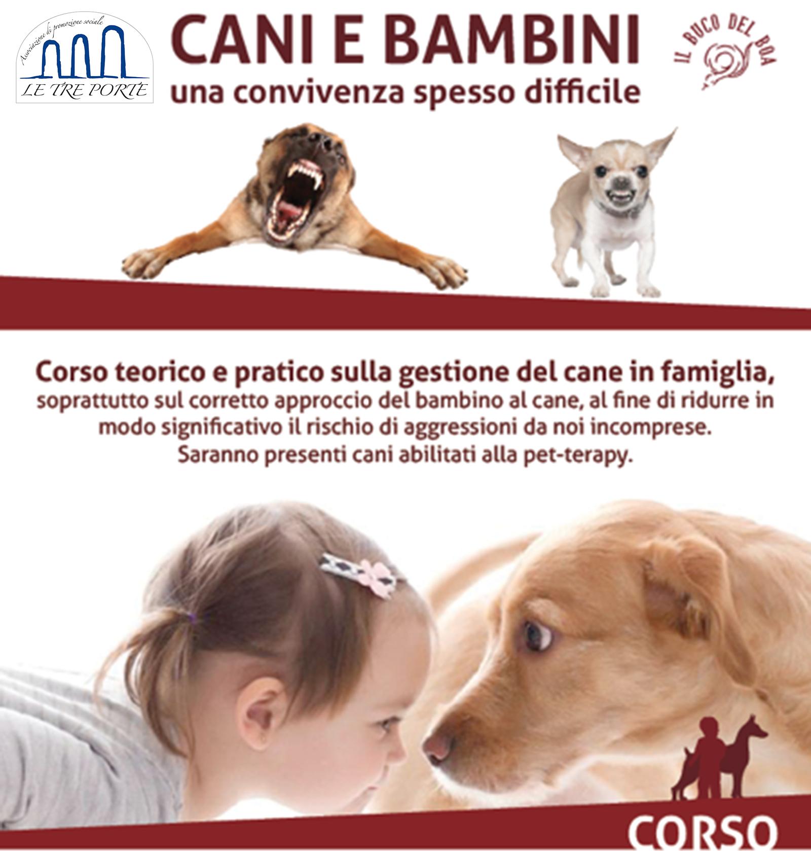 Cani e bambini, una convivenza spesso difficile. Un corso per un corretto approccio
