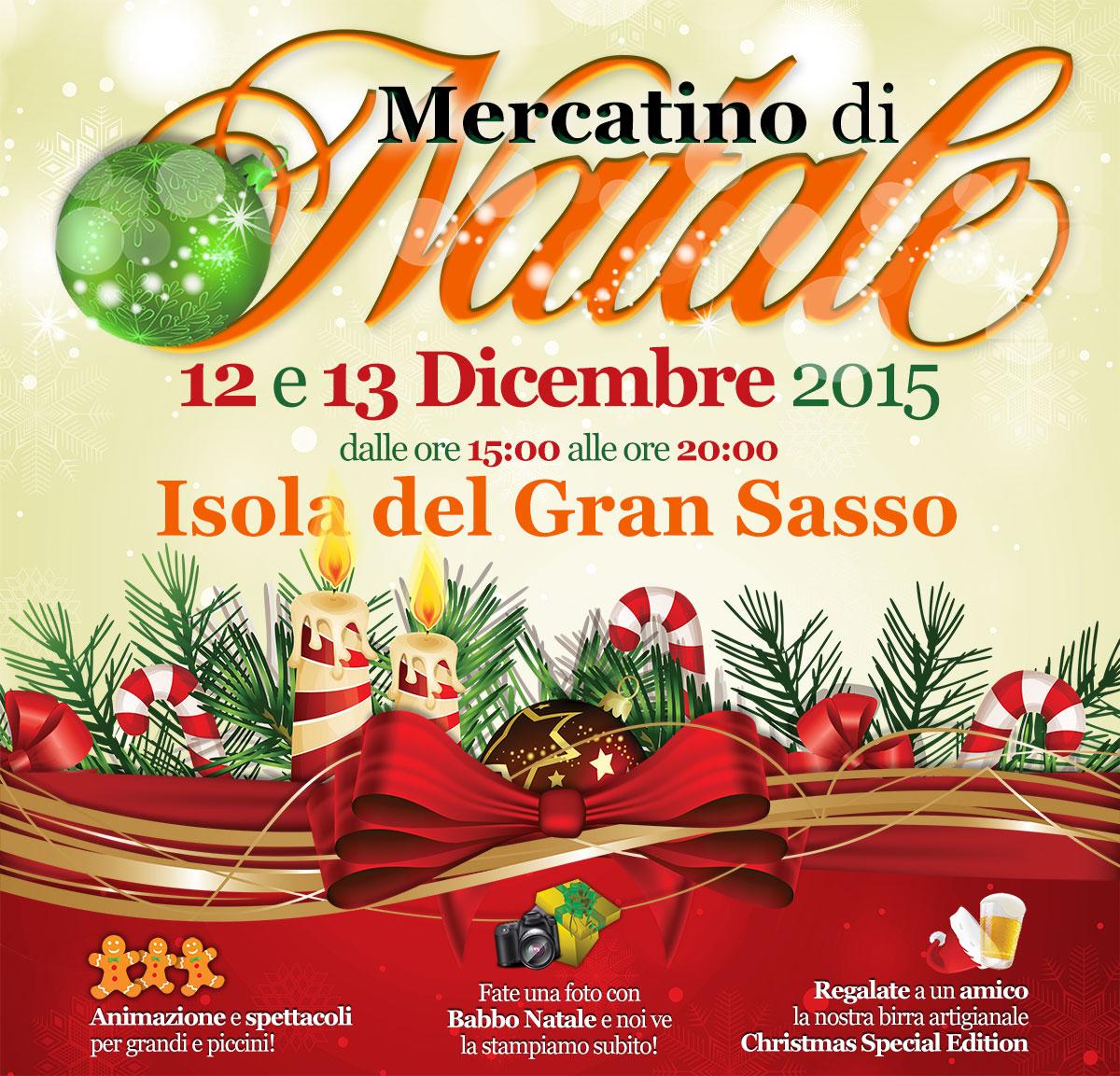 Mercatino di Natale, 12 e 13 Dicembre a Isola del Gran Sasso