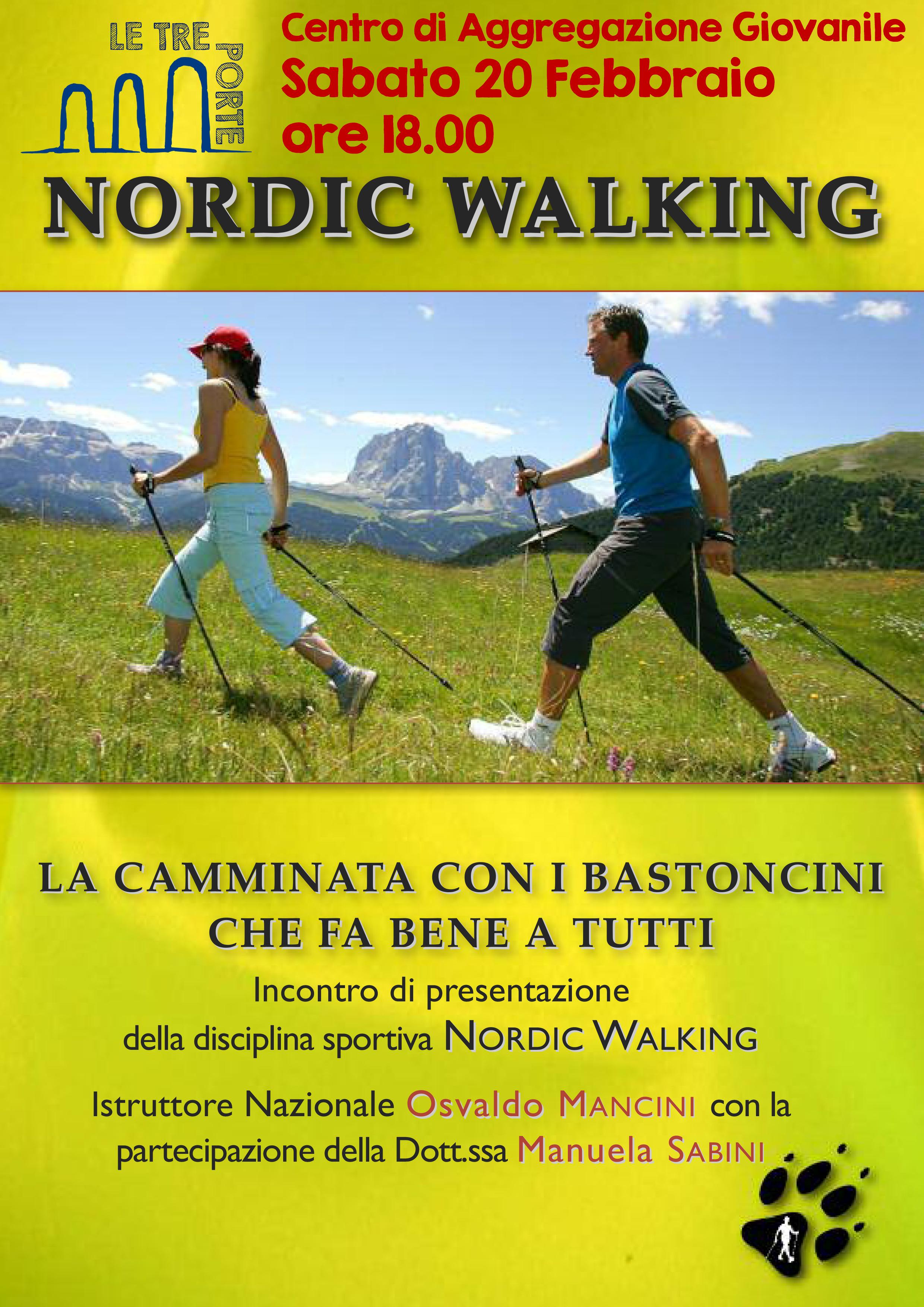 Mens sana in corpore sano – Incontro pubblico di presentazione del Nordic Walking – Sabato 20 Febbraio