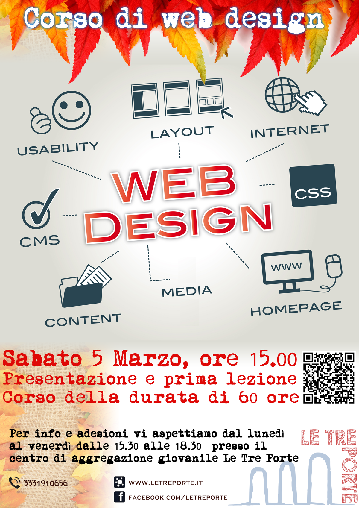 Corso web design – webmaster, appuntamento per Sabato 5 Marzo