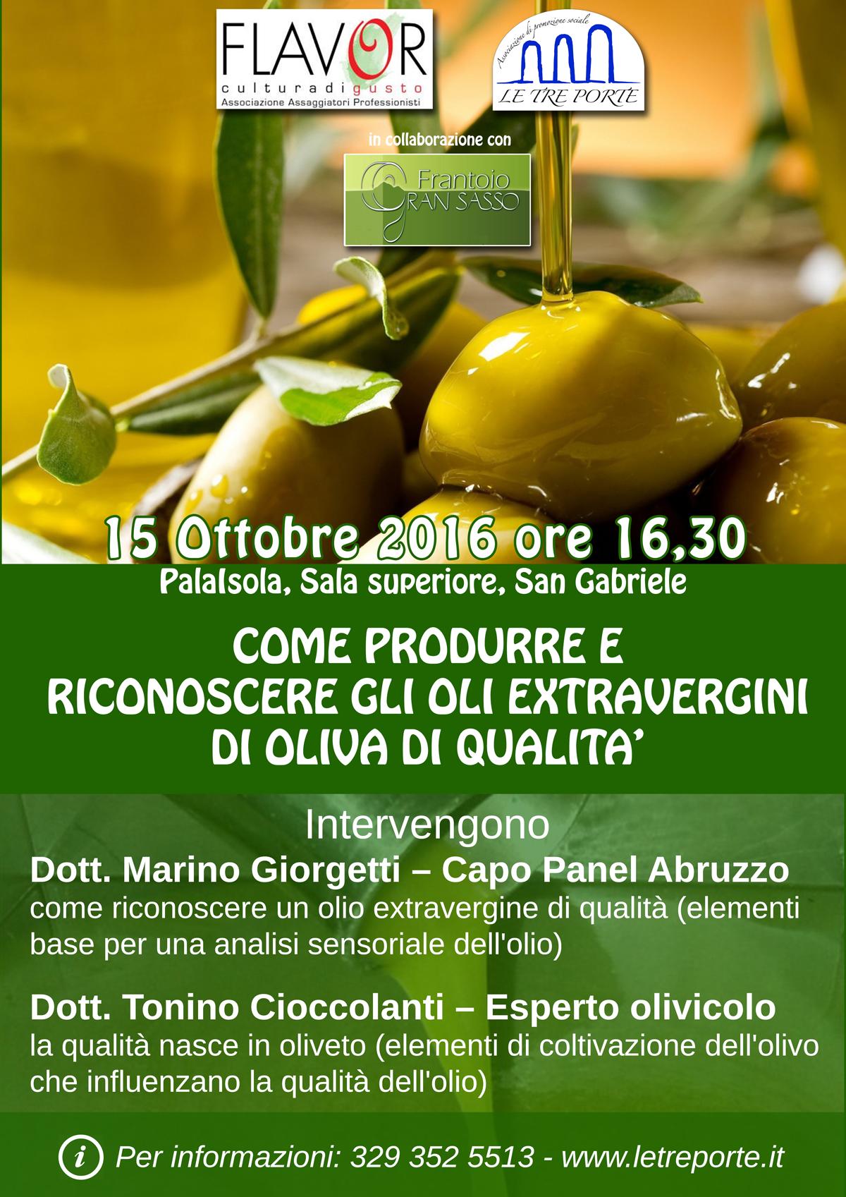 Seminario su produzione e degustazione di olio extra vergine
